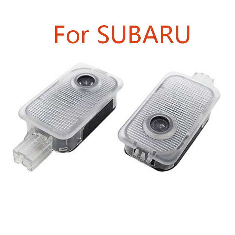 2pcs Led Car Door Projector High-definition Logo Light for SUBARU Forester Outback legacy Impreza XV  Car welcome light error free t20 socket 360 degrees projector lens led backup reverse light r5 chips replacement bulb for subaru outback