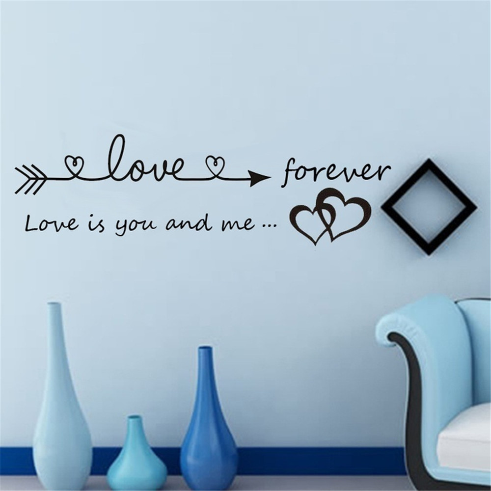 US $4.81 37% OFF|Wall Stickers Home Sweet Quotations Removable English  poetry quotes bedroom background wall stickers deco chambre bebe allah-in  Wall ...