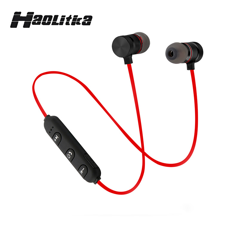 Magnetic Wireless Bluetooth 4.1 Sports Stereo Earphone Voice Control Noise Reduction In Ear  Microphone Sport Headset for Phone nameblue st 33 sports bluetooth v4 0 in ear earphone headphone set w microphone volume control