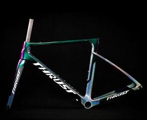 Image 1 - 2019 Road Bike Frame Carbon Road Bicycle Frame Di2 Mechanical UD Black Carbon Frame Size 465 485 500 520 540mm 2 Year Warranty