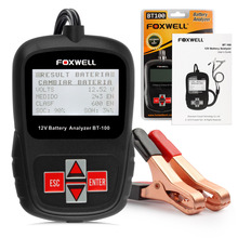 2016 Multi Languages 12V CCA Car Battery Tester Analyzer Foxwell BT100 Automotive 12 Voltage Cranking Charging Free Shipping