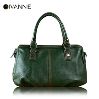 2017 Fashion Design Genuine Leather Women Handbag Famous Brands Boston Bag Female Tote Bag Crossbody Bag