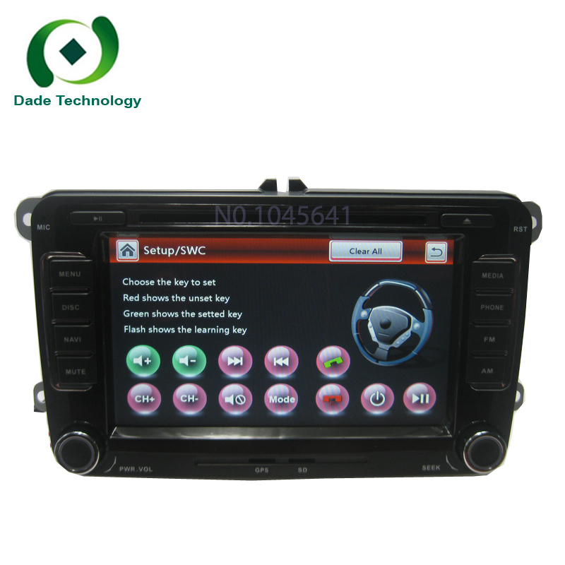 2 Din 7 Inch Car DVD Player Multimedia For VW Volkswagen POLO PASSAT Golf Skoda Seat With Host Radio GPS BT RDS FM FREE Map