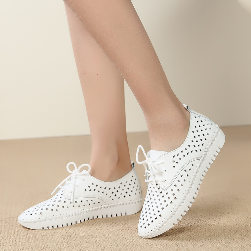 MFU22 Walking shoes 2018 summer new hollow breathable white walking shoes B1Z1-B1Z17MFU22 Walking shoes 2018 summer new hollow breathable white walking shoes B1Z1-B1Z17