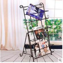 Magazine rack European - style wrought iron letters and books
