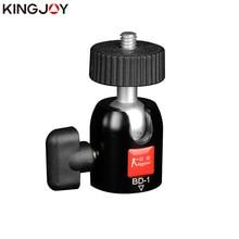 KINGJOY Official BD-1 QA-0/1 Tripod Ball Head Universal Mini Aluminum with plate 1/4 3/8 inch Screw For DSLR Camera