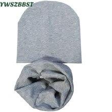 Baby Hat cotton child hat scarf collar autumn winter warm baby cap Kids boys girls beanies Infant hats set цена и фото