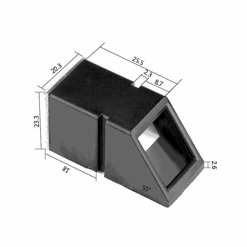 AS608 إصبع اللمس وظيفة البصرية وحدة بصمة اليد الاستشعار القارئ