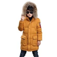2017 детская куртка мальчик зима средней длины сгущает теплый мальчик зимняя куртка твердые капюшоном мальчики зимнее пальто зимняя куртка мальчик 5-12 Т