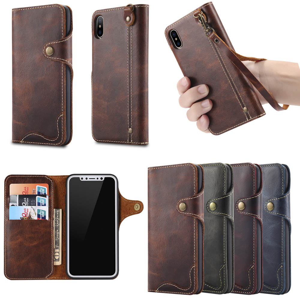 Image 5 - Natural Cowhide Case for iPhone 11 Pro Max XR XS X 8 7 Genuine 