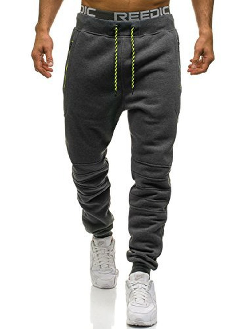 ZOGAA Men Full Sportswear Pants Casual Elastic Polyester Mens Fitness Workout Pants Skinny Sweatpants Trousers Jogger Pants
