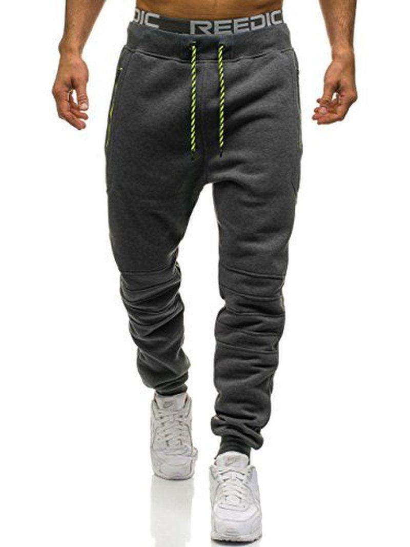 ZOGAA Men Full Sportswear Pants Casual Elastic Polyester Mens Fitness Workout Pants Skinny Sweatpants Trousers Jogger Pants