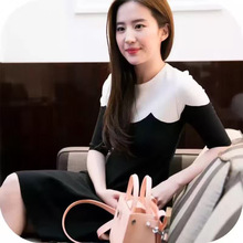 2016 fall star with the same paragraph wave dress agent wholesale Liu Yifei style refreshing with dress