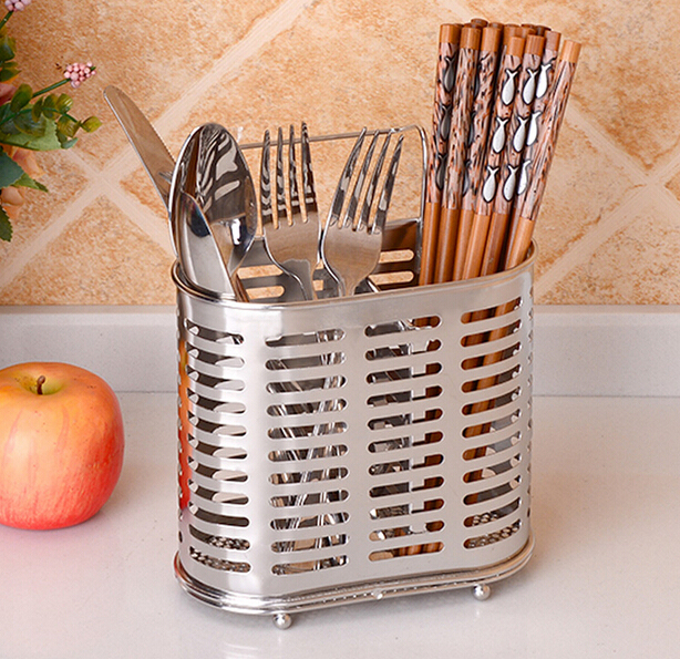 304 Stainless Steel High Quality Kitchenware Storage Holder Two Grids Drain Water Type Tableware Storage Cage Free Shipping
