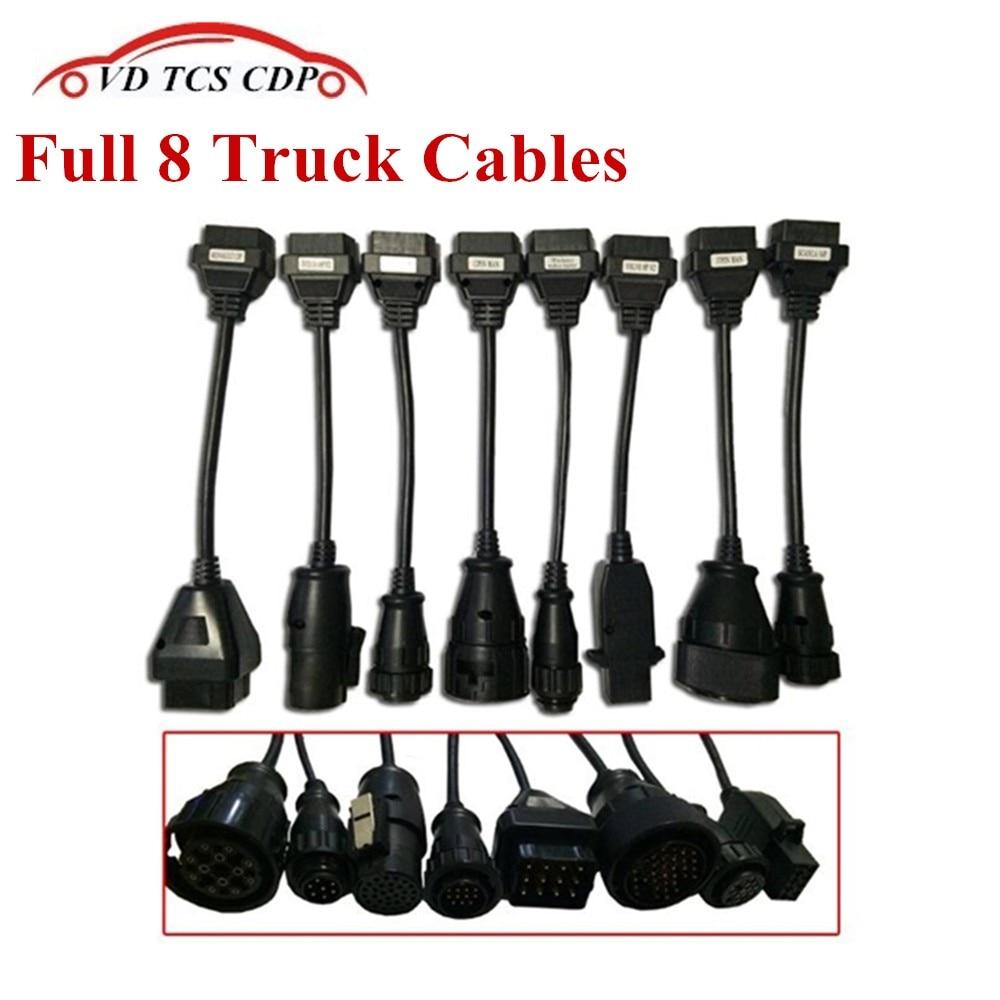 Prix pour Ensemble complet vd tcs cdp Camion Câbles Pour VD TCS cdp pro plus SCANNER camion câble OBD2 OBDII Camions outil De Diagnostic connecter câble