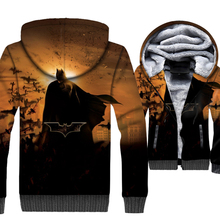 Brand Clothing Mens Hoodie 2018 New Winter Thick Hoodies Anime 3D Avengers Sweatshirts Hip Hop Unisex Zipper Jackets Coat