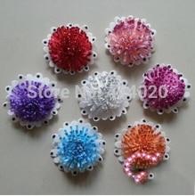 100 Pcs/Lot 7.5CM New Design PE Flowers Home Wedding Decoration Foam Flower Artical Shoes Hat Choth Accessories