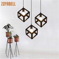 Zoyabell Vintage colgante luz Europa hierro moderno comedor luminaria decoración Industrial diseño Retro lámpara colgante Luz