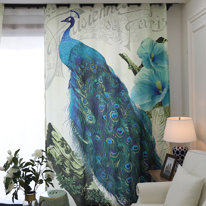 Pretty Peacock басылған Жануарлардың - Үй тоқыма - фото 3