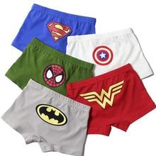 Детское нижнее белье для мальчиков детские шорты с героями мультфильмов, трусы для малышей, боксеры для мальчика, Трусы в полоску для подростков, 110-150 см