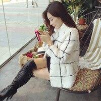 Thick Warm Faux Lamb Fur Coat Stand Collar Plaid Overcoat Elegant Office Ladies High Quality Casacos de Inverno Feminino E103