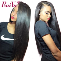 Peruvian Wig Lace Front Human Hair Wigs Straight Lace Front Wig For Black Women RUIYU Wigs Long Remy Hair 10 26 Inch Can Be dyed