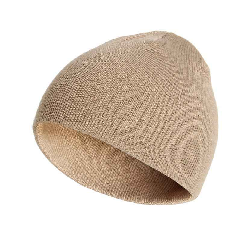 7e0d994b4ff Winter Hat Unisex Cotton Blends Solid Warm Soft HIP HOP Knitted Hats Men Winter  Caps Women s