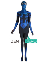 Free Shipping DHL NEW Sensational Spider Costume 3D Printing Blue Female Spider-man Costume 2017 Fancy Dress Superhero Costume
