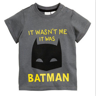 2016 Summer Batman Toddler baby Boy t shirts Short Sleeve ...