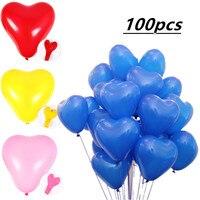 100pcs 10inch Love Rose Gold Balloon Latex Balloon Happy Birthday Baloon Wedding Decoration Ballon Event Party Supplies