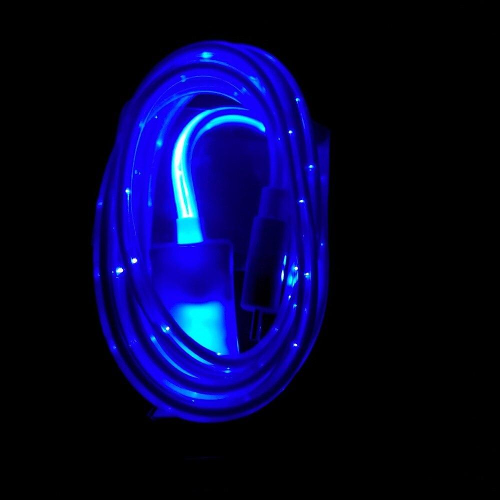 USB mobile phone Flashlight data cable LED round wire optical fiber ...