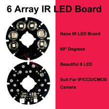Hot Low fever Good quality 6 array LED IR Leds Board 60 degree Far Infrared Lamp Board for 75 diameter CCTV Camera system