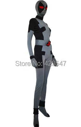 Traje X-Force Deadpoo Traje Zentai de Lycra Lycra Spandex Negro y - Disfraces