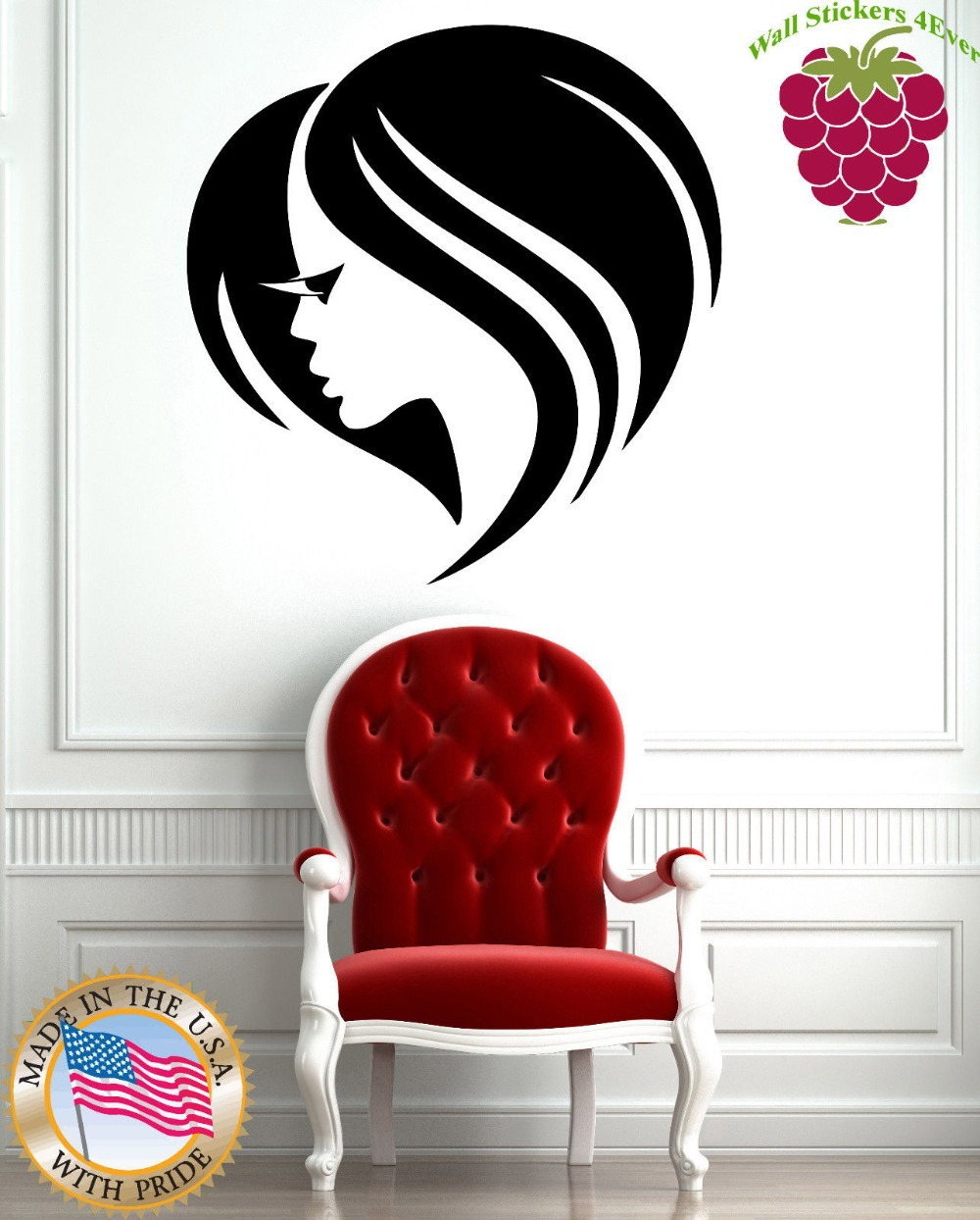 Aliexpress buy beauty hair salon wall stickers vinyl decal aliexpress buy beauty hair salon wall stickers vinyl decal cute girl face eye lashes from reliable beauty hair salon suppliers on mirage store amipublicfo Images