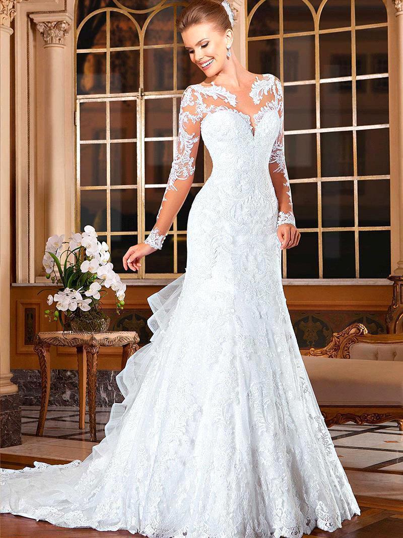 Vestido de novia corte sirena de encaje