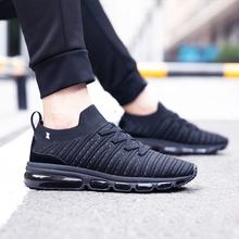 ONEMIX 2018 off black sports shoes men sneakers air cushion running fitness mens max big size 36-47
