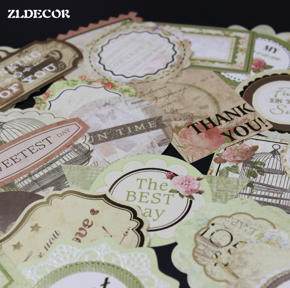 Scrapbook paper vs cardstock - Zldecor 25pcs Hello My Friend Cardstock Die Cuts For Scrapbooking Happy Planner Card Making