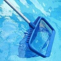 Nuevo Producto  rastrillo de hojas de plástico azul profesional  espumadora de red de malla  herramienta para limpiar piscina  espumadera de hoja roja