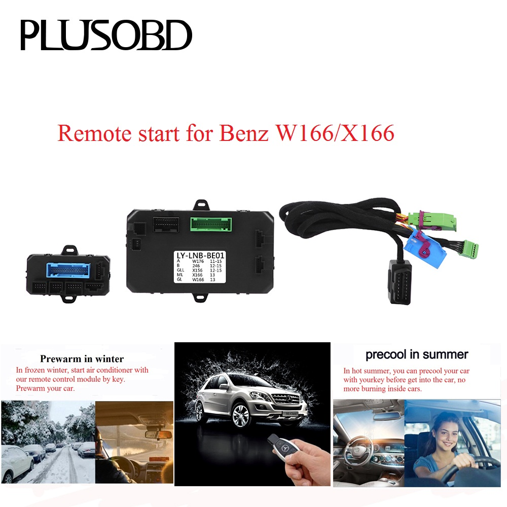Remote Control Car Engine Start/Turn Off To Warm Up Car In Winter And Precooling In Summer For Mercedes Benz W166 X166Remote Control Car Engine Start/Turn Off To Warm Up Car In Winter And Precooling In Summer For Mercedes Benz W166 X166