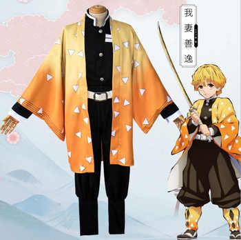 Anime Demon Slayer Tanjirou Kamado Kamado Nezuko Cosplay Costume Kimetsu no Yaiba Kimono Adult Halloween Carnival Uniforms