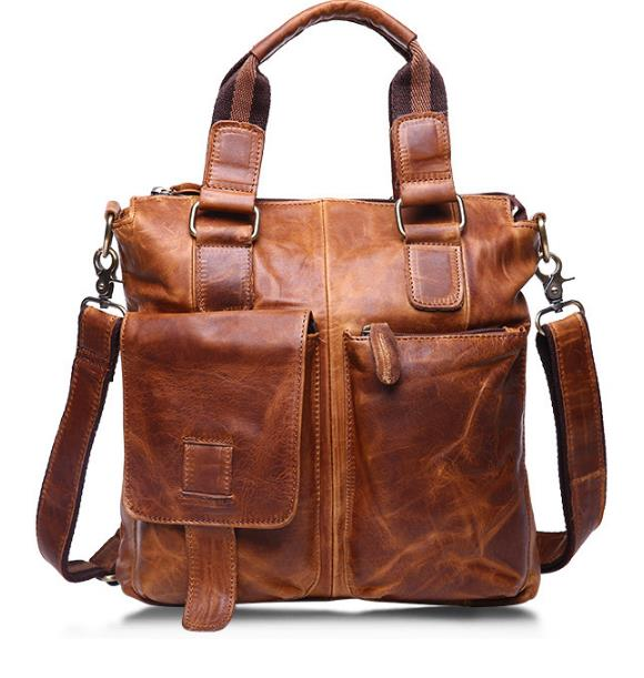 ONEFULL NEW HIGH QUALITY genuine leather men shoulder bag casual zipper Handbag Briefcase men messenger bags brand shoulder bags high quality casual men bag