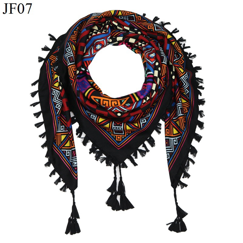 2017 hot sale new fashion woman scarf square scarves tassel short Floral Printed women winter lady shawls wraps free freight
