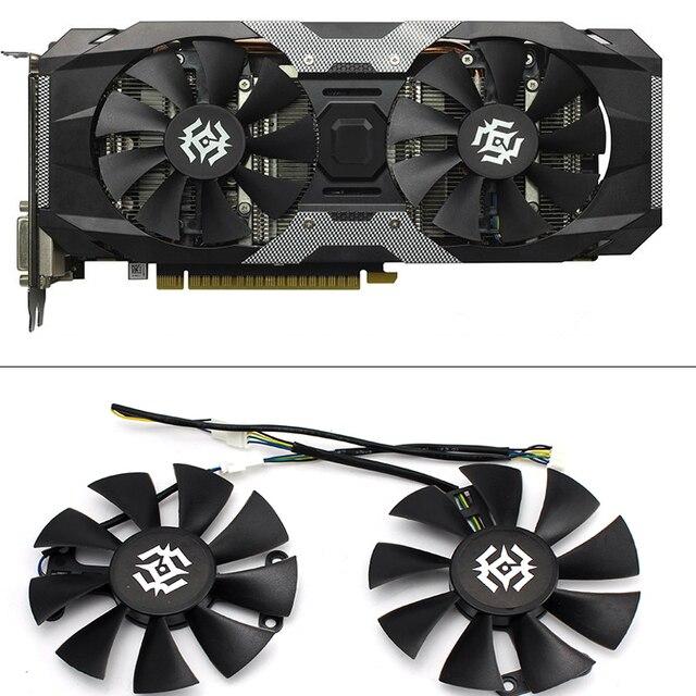 Nova 85mm 4Pin Ventilador Cooler Fan Substituir Para ZOTAC GTX1060 6 GB GTX1050 GTX1050Ti GTX 1060 Placa Gráfica Arrefecimento fã
