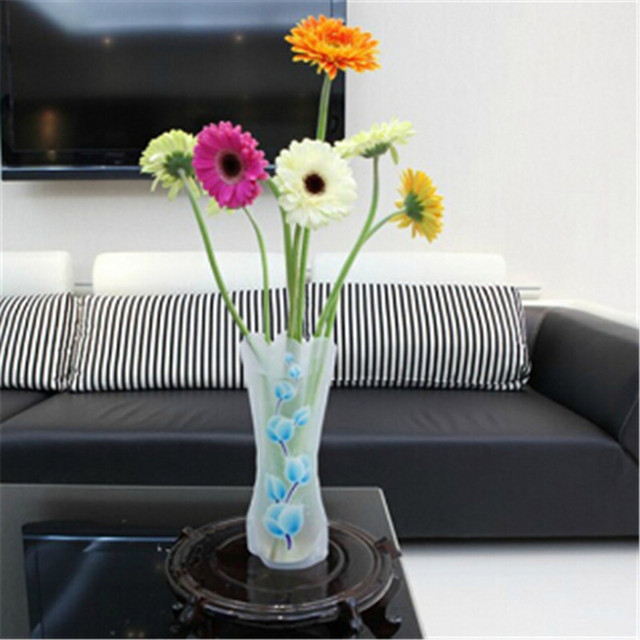 1pc Colorful Foldable Plastic Flower Vase Water Bag Novelty Plastic