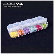 ZOOYA contenedor de cuentas de pintura de diamantes, contenedor de resina de diamantes de imitación, accesorio de almacenamiento de piedras bordadas, conveniencia de mosaico Hk11
