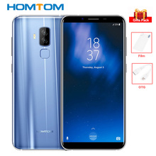 "HOMTOM S8 4GB+64GB 4G Smartphone 5.7"" 18:9 5V/2A 13MP+16MP Cams Octa Core MTK6750T Android 7.0 Mobile Phone Fingerprint 3400mAh"