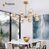 Luz pendiente moderna de cristal nórdico Comedor Cocina diseñador lámparas colgantes Avize Lustre iluminación E27 luces colgantes