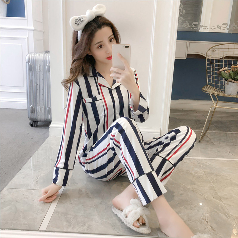 ROSASSY Milk Silk Pajamas Sets for Women Fashion Satin Pajama Spring Autumn Winter Nightwear Pajamas Party Homewear M/L/XL/XXL