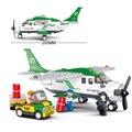 Kits de edificio modelo compatible con lego city AVIACIÓN 0362 bloques 3D aficiones modelo Educativo y juguetes de construcción para los niños
