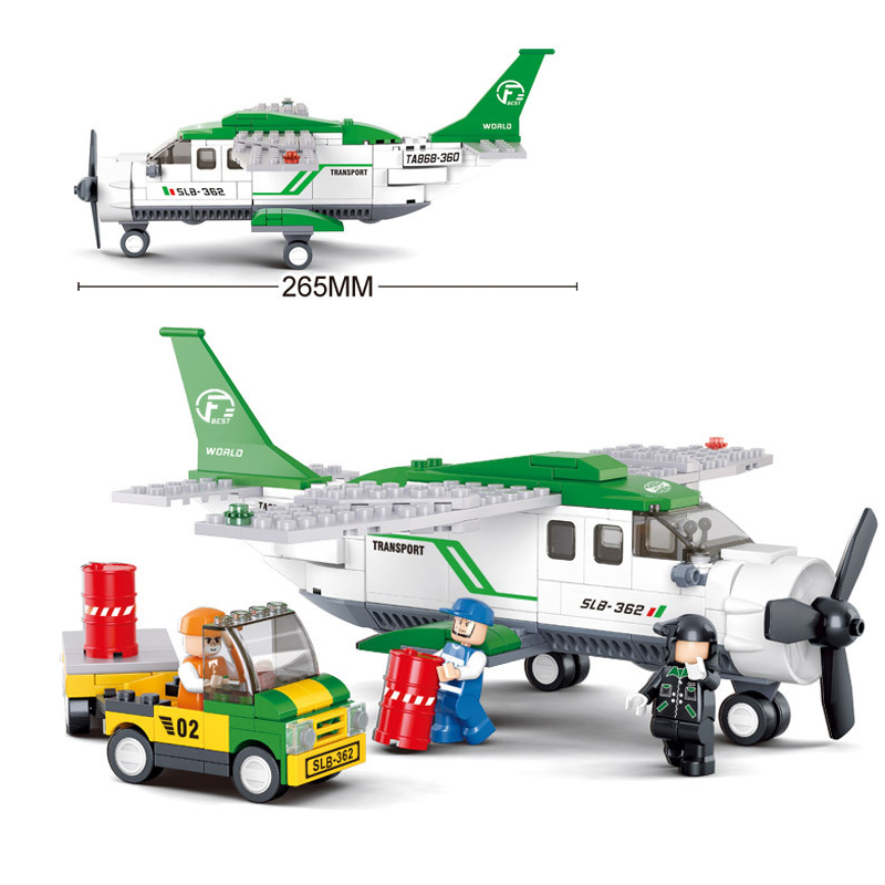 model building kits compatible with lego city AVIATION 0362 3D blocks Educational model & building toys hobbies for children